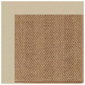 "Islamorada-Herringbone Canvas Antique Beige - Rectangle - 24"" x 36"""