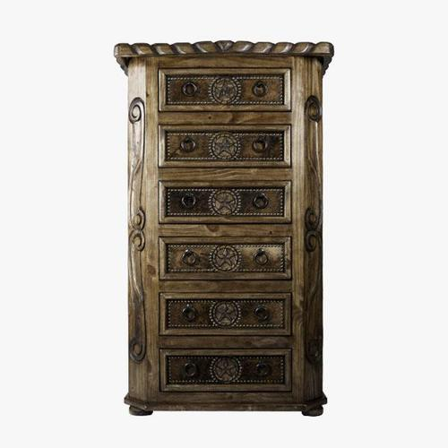 L.M.T. Rustic and Western Imports - Chest W/Rope,Star & Cowhide