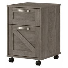 Cottage Grove 2 Drawer Mobile File Cabinet - Restored Gray