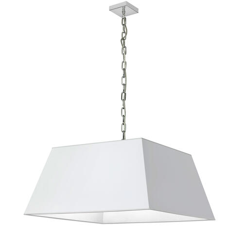 1lt Milano Large Pendant, Wht Shade, PC