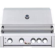 "HEAT 32"" 4-Burner Gas Grill w/ Infrared Burner - LP"