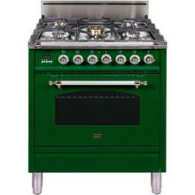 """See Details - 30"""" Nostalgie Series Freestanding Single Oven Gas Range with 5 Sealed Burners in Emerald Green"""