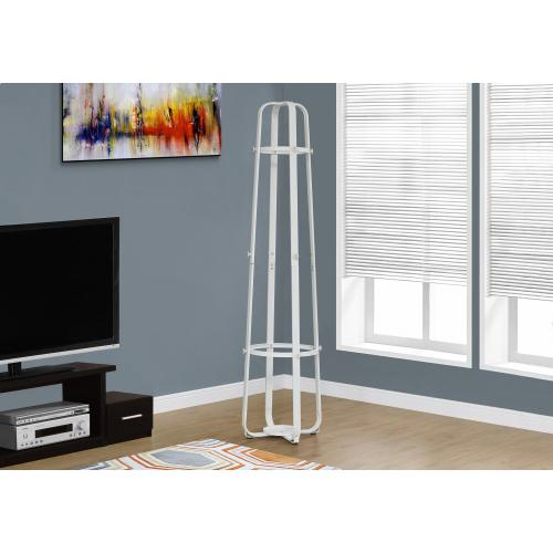"""Gallery - COAT RACK - 72""""H / WHITE METAL WITH AN UMBRELLA HOLDER"""