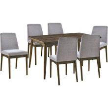 See Details - Hanover Portland 7-Piece Dining Set with Rectangle Table and 6 Upholstered Side Chairs, HDR008-7PC-DR