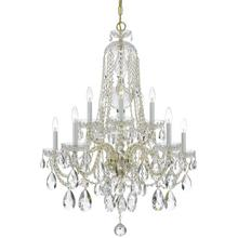 See Details - Traditional Crystal 10 Light Clear Crystal Brass Chandelier
