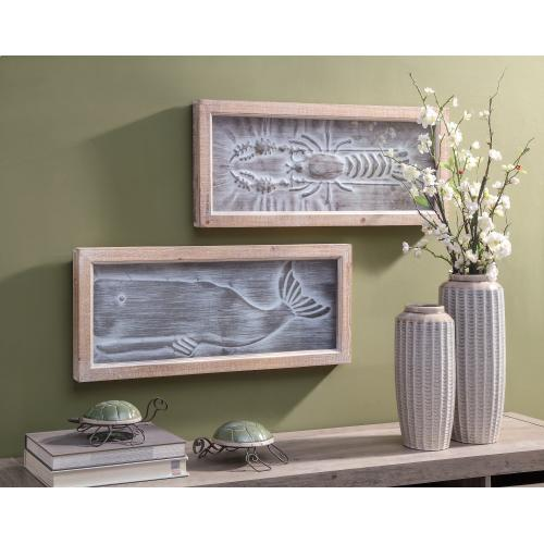 Karlin Whale and Lobster Wall Decor - Ast 2