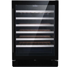 Hanover Vault Series 24-In. Single Zone Black Wine Cooler with 54-Bottle Capacity and Reversible Door Hinge, HWC60301-5BSS