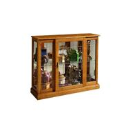 Lighted 1 Shelf Console Display Cabinet in Golden Oak Brown Product Image
