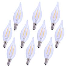 LED E12 CANDELABRA, 2700K, 300 °, CRI80, ES, UL/CUL, 2.5W, 25W EQUIVALENT, 15000HRS, LM165, DIMMABLE, 2 YEARS WARRANTY, INPUT VOLTAGE 120V 10 PACK