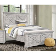 CF-4100 Bedroom  Queen Wood Panel Bed