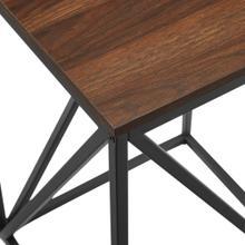View Product - Modern Geometric Side Table - Dark Walnut