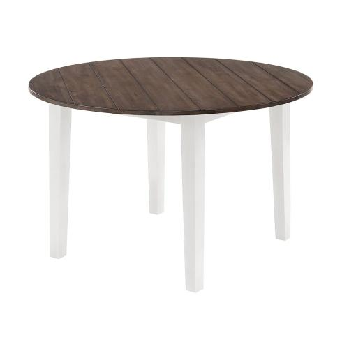 5057 A La Carte White Round Dining Table