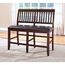 Kaylee Counter Bench, Tudor Brown