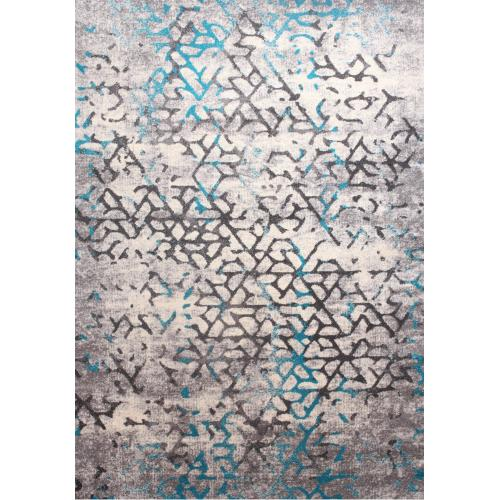 "Power Loomed Soft Damask Design Tara 308 Area Rug by Rug Factory Plus - 5'4"" x 7'5"""