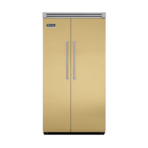 """Viking - Golden Mist 42"""" Side-by-Side Refrigerator/Freezer - VISB (Integrated Installation)"""