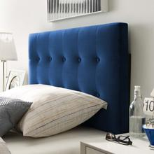 View Product - Emily Twin Biscuit Tufted Performance Velvet Headboard in Navy