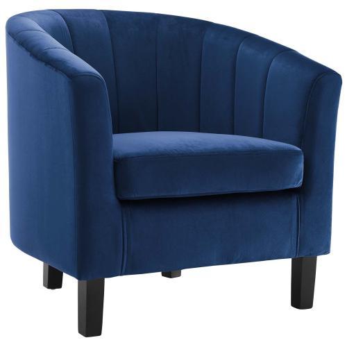 Modway - Prospect Channel Tufted Performance Velvet Armchair in Navy