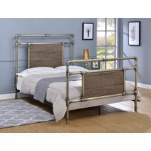 Elkton Bed - Full, Antique Brass Finish