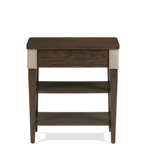Riverside - Monterey - Chairside Table - Mink Finish