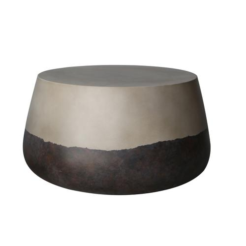 """GRC 15"""" Round Side Table, TWO-TONE"""