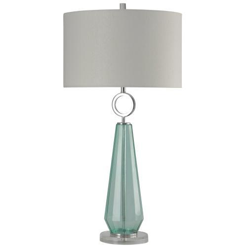 Cosala  Transitional Sea Glass Clear Acrylic & Metal Table Lamp