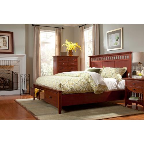 Cresent Furniture - Modern Shaker Storage Bed