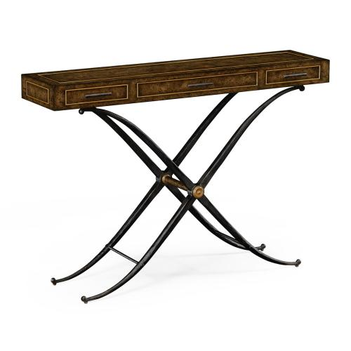 """36"""" Hammered Iron Console"""