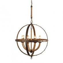 CHANDELIER iron frame+ rope W29*H33