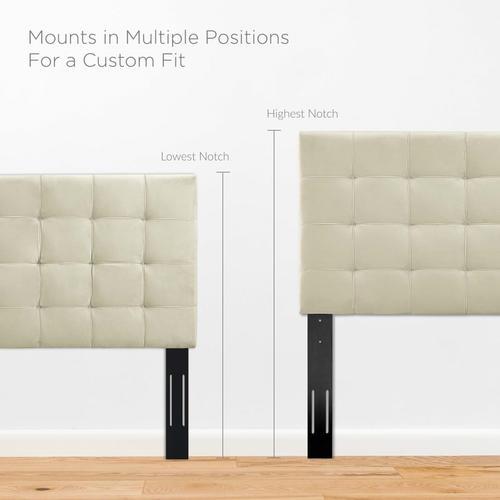Modway - Paisley Tufted Full / Queen Upholstered Performance Velvet Headboard in Ivory