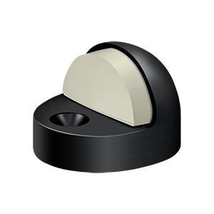 Dome Stop High Profile, Solid Brass - Paint Black