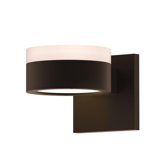 Sonneman - A Way of Light - REALS® Up/Down LED Sconce [Color/Finish=Textured Bronze, Lens Type=White Cylinder Lens and Plate Lens]
