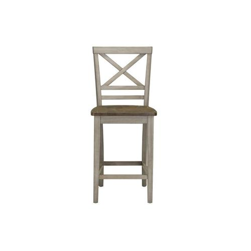 Standard Furniture - Fairhaven Grey Distressed 2-Pack Counter Height Barstools