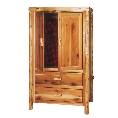 Two Drawer Armoire - Vintage Cedar - Value
