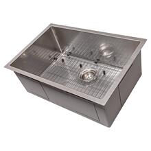 "See Details - ZLINE 27"" Meribel Undermount Single Bowl Kitchen Sink with Bottom Grid (SRS-27) [Color: Stainless Steel]"