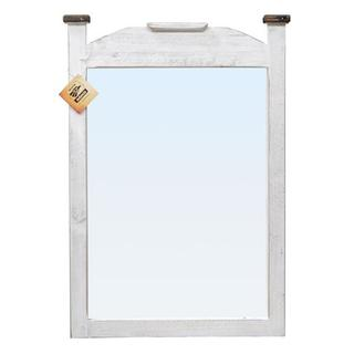 See Details - Weathered White Water Based Econo Mirror