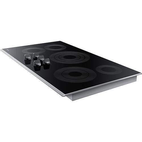"36"" Smart Electric Cooktop in Stainless Steel"
