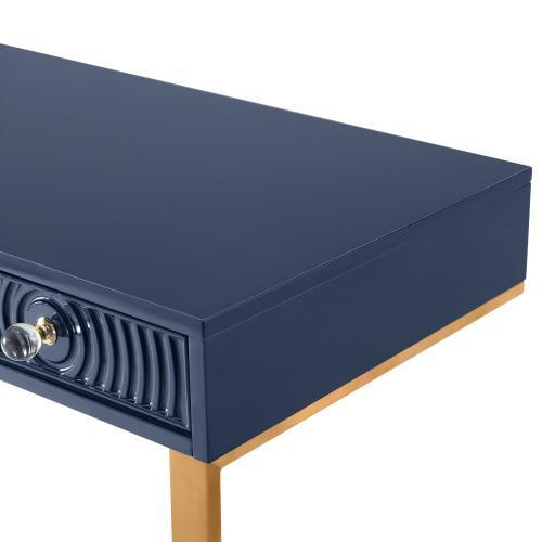 Janie Blue Lacquer Desk