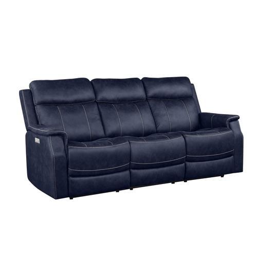 Gallery - Valencia Dual-Power Reclining Sofa, Ocean Blue