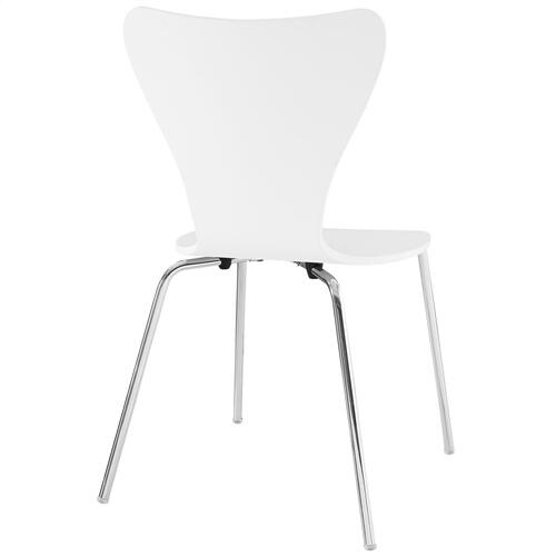 Ernie Dining Side Chair in White