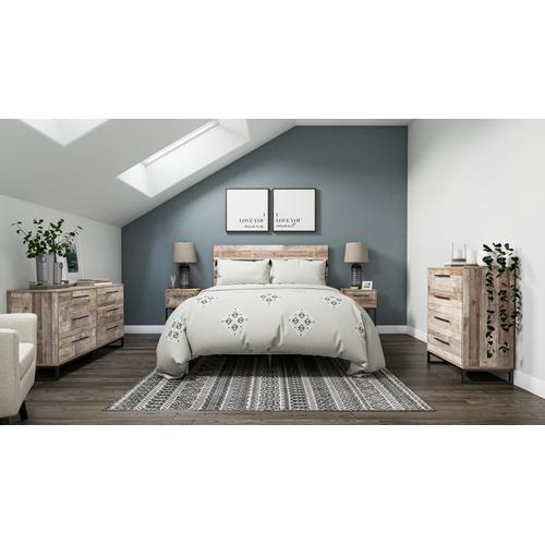 Queen Platform Bed With Dresser, Chest and 2 Nightstands