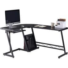 """See Details - 3821 50"""" BLACK L Shape Modern Computer Desk"""