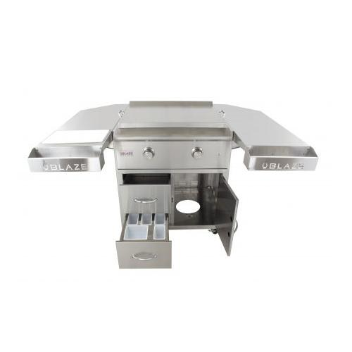 Blaze Grills - Blaze 30-Inch Griddle Cart Shelving Kit, With Fuel type - Propane