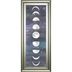 """Moon Chart I"" By Naomi Mccavitt Framed Print Wall Art"