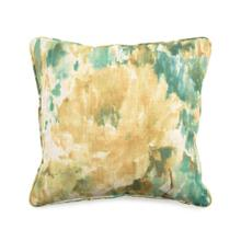 Toss Pillow with an Abstract Pattern of Multi Colors and Green Specks