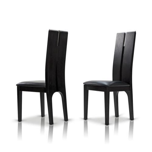 Modrest Maxi Black Oak Dining Chair (Set of 2)