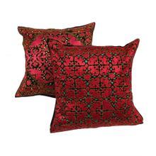 Pakistan Old Pillow Silk & Cotton Emb