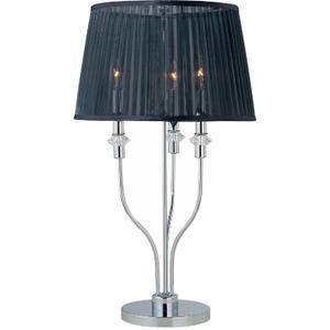 Table Lamp, Chrome/black Organza Shade, E12 Type B 40wx3