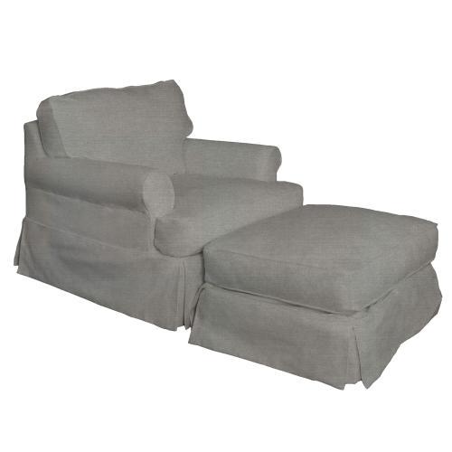 Product Image - Horizon Slipcovered Chair and Ottoman - Color 391094