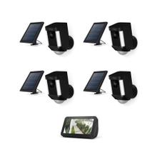 4-Pack Spotlight Cam Solar with Echo Show 5 - Black