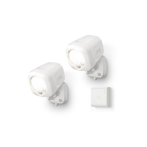 Smart Lighting Spotlight 2-Pack + Bridge - White